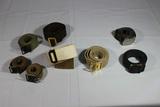 Lot 0f 9 US Soldier Belts. Sam Browne, Chocolate Brown, Etc.