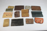 Lot of 13 Pieces Various US WW2 Personal Pieces. Wallets, Bibles, Sewing Kits, & Misc.