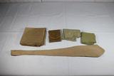 5 Pieces of US WW2 Misc. Pieces. Tie, Shaving Kit, & Handkerchiefs.