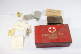 Lot of WW2 Through Vietnam First Aid Items. Complete US WW2 Navy First Aid Kit.