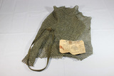 US WW2 Late War M1 Helmet Net. With Band & Instruction Booklet.