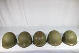 Lot of 5 US Vietnam M1C Paratrooper Helmet Liners.