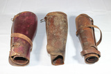 Lot of 2 Pairs of US WW1 Army Officer's Leather Leggings. 1 Single Legging.