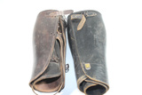 2 Pairs of WW1 or WW2 British Officer's Leather Leggings.