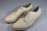 Vietnam Era USMC Bates Floataway White Dress Shoes. 11 1/2 E.