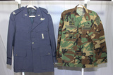 2 Uniform Jackets.  Bullion Embroidery Air Force Officer/Columbian Army Jacket W/Theater Patches