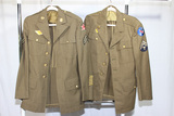2 US WW2 Army Enlisted Class A Uniform Jackets. 1 Chemical Corps.