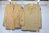 2 US WW2 Occupation Era Wool Khaki Officer's Jackets. Air Force & Corps of Engineers. Mothing.
