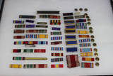 Ribbon Bar Lot. Approximately 47 Pieces. Some Foreign.