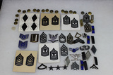 45 Pieces of Mostly Rank Insignia. Mostly Clutch Back. Sterling Colonel Eagle.