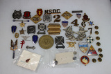 38 pieces of Mostly US Army Pins & Insignia.