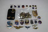 Lot of Air Force & Army Air Corps Pins.