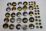 14 Pieces of Post WW2 Domed Enlisted Collar Brass.