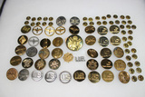 33 Pieces of WW2 & Later Flat Enlisted Collar Brass.