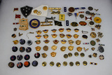 Approximately 93 Pieces of US WW2 & Foreign Buttonhole & Lapel Pins.