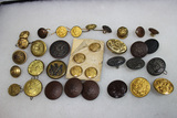34 US Uniform Buttons from Indian Wars to Present.