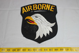 Huge Post WW2 101st Airborne Patch. Wool Felt. Some Moth Damage.