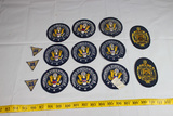 14 Piece Patch Lot. United States. US WW2 Non Combatant. Naval Academy.