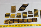 11 Pieces of US WW2 Overseas Stripes. Some Bullion. Theater Made. Uncut.