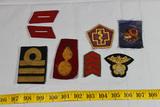 8 Pieces Foreign Patches & Badges. Japan. Korea. British.