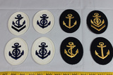 8 Pieces of Post WW2 East German Navy Sleeve Ratings.
