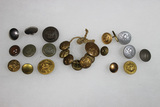23 Pieces of Foreign Mostly German Uniform Buttons.