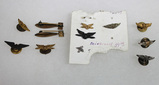 12 Pieces US WW1-WW2 Army Air Corps Air Force Pins. Wings. Etc. NICE lot.