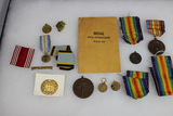 15 Piece Medal Lot. All Countries. WW1 Victory, West Indies, New York Guard, Etc.