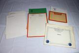 7 Pieces of WW2 German Letterhead & US Award Citation. All Blank.