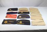 Lot of 13 Mostly Khaki Overseas Garrison Caps W/ Some Legion & DAV Caps.
