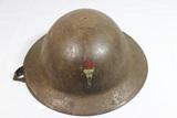 WW1 101st Infantry Division Helmet Painted Regimental Insignia.