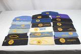 19 US WW1 & WW2 Jewish War Veteran Association Overseas Garrison Caps.