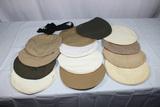 Lot of 13 US WW2 & Later Visor Cap Covers.