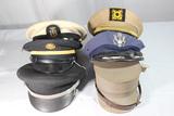 Lot of 6 Korean War & Later Caps & Hats.
