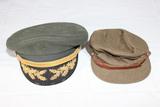 Vietnam Era US Army Field Grade Officer's Visor & Early Canadian Buffalo Hat.