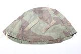 WW2 German Reversible Splinter Pattern/Snow Camo Helmet Cover.