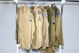 Lot of 5 US WW2 Army Air Corps Patched Uniform Shirts.
