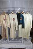 5 Pieces of Early Ku Klux Klan Robes & Uniform Pieces. No Hoods.