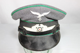 WW2 German Luftwaffe Forestry Enlisted Visor Cap. Great Condition. Reenactment Example