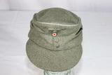 WW2 German Mountain Troops Officer's M43 Cap. Very Well Made. Edelweiss. Reenactor Piece