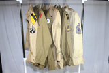 Lot of 6 US WW2 Army Khaki Patched Uniform Shirts. Great 1st Cav!