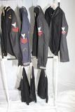 Lot of US WW1 & WW2 US Navy Jumper Uniform Pieces. 4 Tops. 3 Pants.