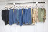 13 Pairs of US Vietnam & Later Uniform Pants.  Mostly Dress Blues.