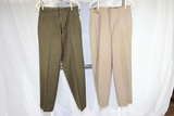 2 Pairs of US WW2 Army Officer's Pants. Chocolate Brown & Pinks.