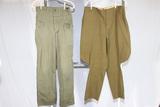 US WW2 HBT Pants & Size 42 Pants Converted to Riding Pants.