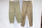 2 Pairs of Scarce East German Cold War Era Combat Pants.