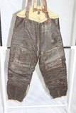 US WW2 Named Type B-1 Shearling Leather Fur Lined Cold Weather Flight Pants.