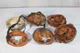 Lot of WW2 German Civil Helmet Liner Components Lot.