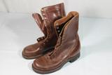 US WW2 Cap Toe Russet Brown Combat Boots. Size 6. Unworn.