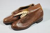 US WW2 WAC Women's Low Boots Soles appear unworn. 7 1/2 A.